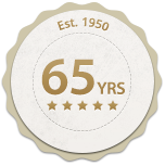 65 years badge