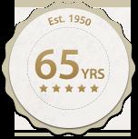 65 years badge